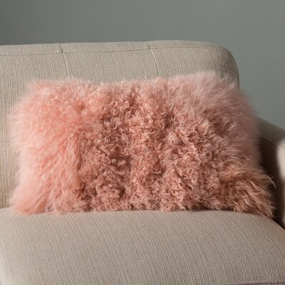 Valmont Lumbar Pillow Color: Pink