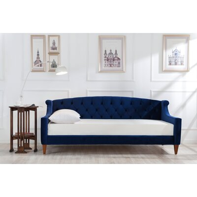 Gilmore Upholstered Sleeper Sofa Upholstery: Navy Blue