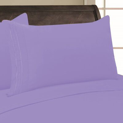 Eliana 1500 Thread Count Pillowcase Color: Lilac, Size: King