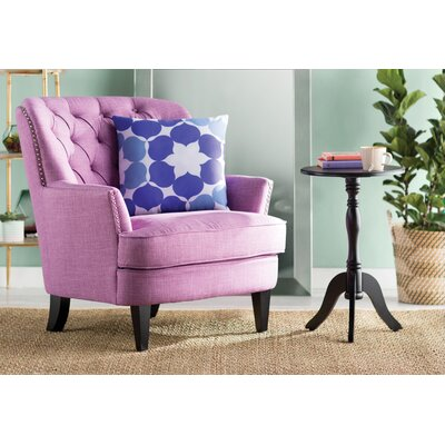 Parmelee Tufted Upholstered Linen Wing back Chair Color: Light Purple
