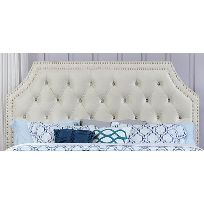 Marques Contemporary Upholstered Panel Headboard and Footboard Size: Queen