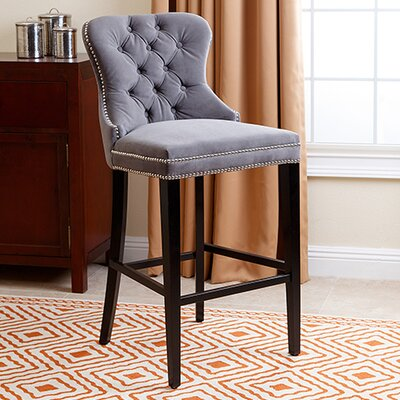 Zaphod 30 Bar Stool Upholstery: Grey