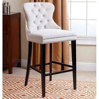 Zaphod 30 Bar Stool Upholstery: Ivory
