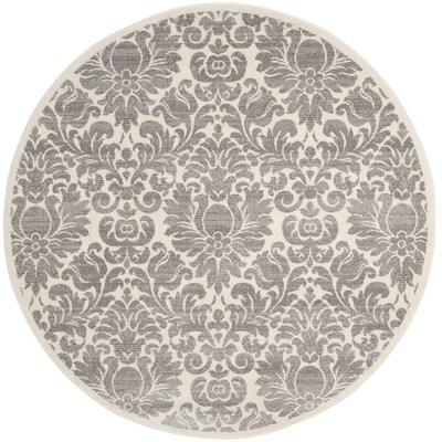 High Wycombe Gray/Ivory Area Rug Rug Size: Round 67