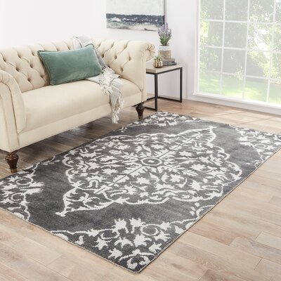 Hamilton Hand-Knotted Gray Area Rug Rug Size: Rectangle 5 x 8