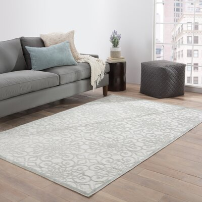 Barron Ivory/Gray Area Rug Rug Size: Rectangle 5 x 76