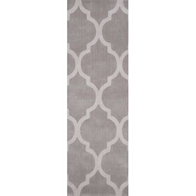 Cherelle Hand-Woven Dark Gray Area Rug Rug Size: Runner 26 x 8