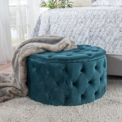 Bouchard Cocktail Ottoman Upholstery: Dark Teal