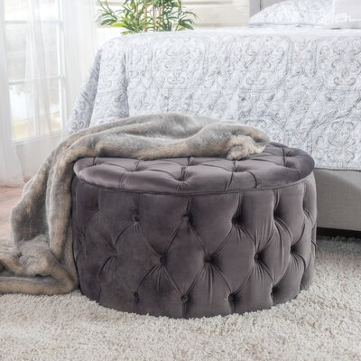 Donnay Ottoman Upholstery: Gray