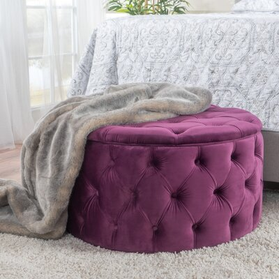 Bouchard Ottoman Upholstery: Fuschia