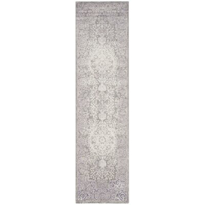 Becontree Gray/Lavender Area Rug Rug Size: Runner 22 x 8