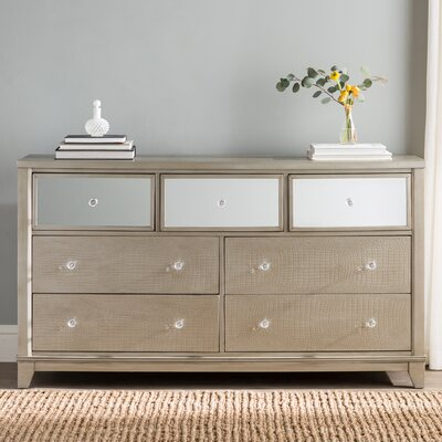 Rogers 7 Drawer Wood Dresser