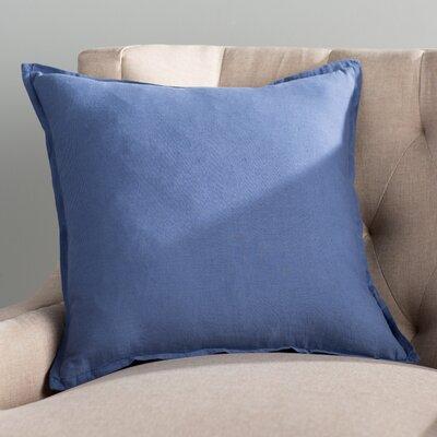 Windsor Throw Pillow Size: 22 H x 22 W x 4 D, Color: Cobalt
