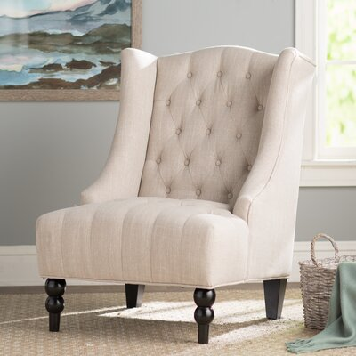 Contreras Wingback Chair Upholstery: Light Beige