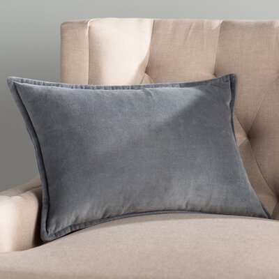 Trini Cotton Lumbar Pillow Color: Gray
