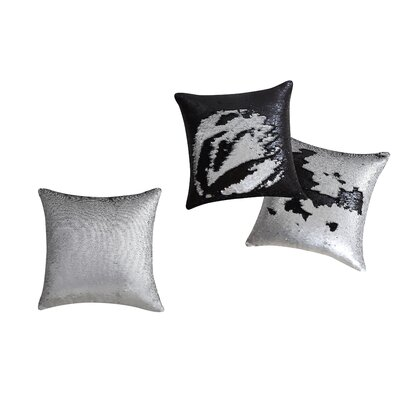 Ellison Mermaid Throw Pillow Color: Silver/Black