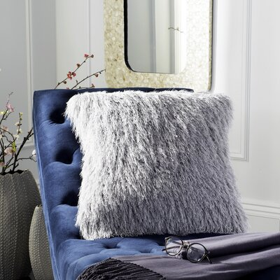 Robertson Shag Modish Throw Pillow Color: Metalic Silver