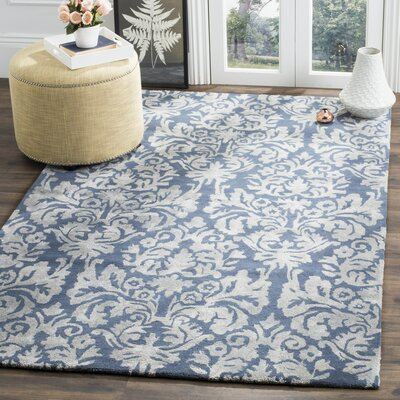 Romford Hand-Tufted Navy/Gray Area Rug Rug Size: 5' x 8'