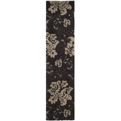 Marybell Dark Brown Area Rug Rug Size: Runner 23 x 9