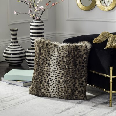 Ripon Faux Leopard Throw Pillow