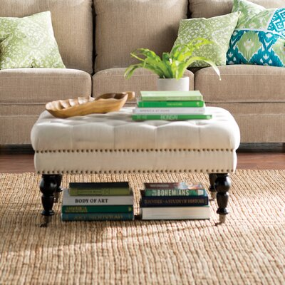 Rittenhouse Square Tufted Ottoman Upholstery: Natural