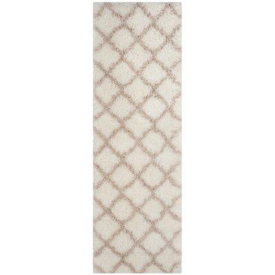 Rivers Ivory/Mushroom Area Rug Rug Size: Runner 23 x 7