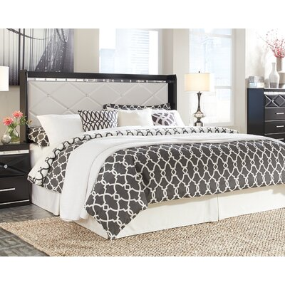 Wylie Panel Headboard Size: Queen, Color: Black