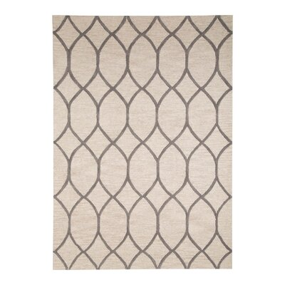 Barrera Hand-Tufted Ivory/Gray Area Rug Rug Size: 5 x 8