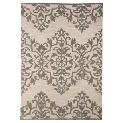 Bronwyn Hand-Tufted Ivory/Gray Area Rug Rug Size: 8 x 10