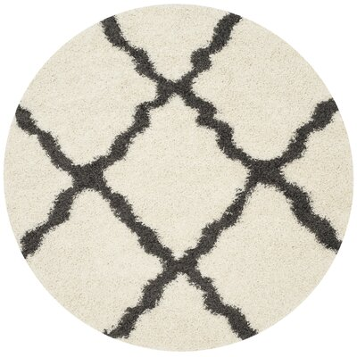 Charmain Ivory/Dark Gray Area Rug Rug Size: Rectangle 86 x 12