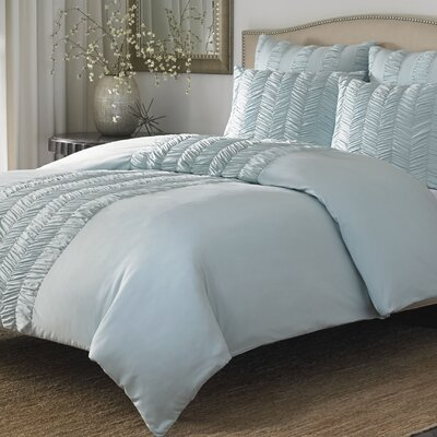 Acton 3 Piece Duvet Set Size: Full/Queen, Color: Azure