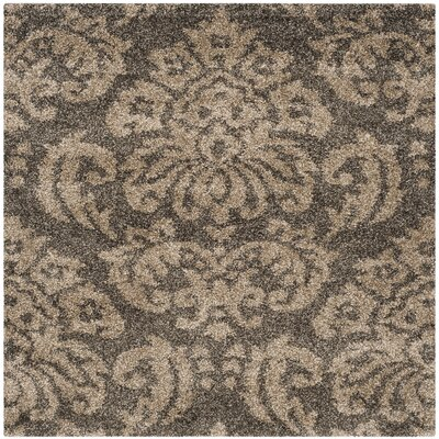 Gustav Light Smoke/Beige Area Rug Rug Size: Square 4