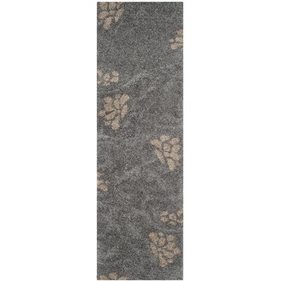 Flanery Gray/Beige Area Rug Rug Size: Runner 23 x 11