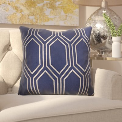 Flying Point Linen Throw Pillow Size: 18 H x 18 W x 4 D, Color: Cobalt