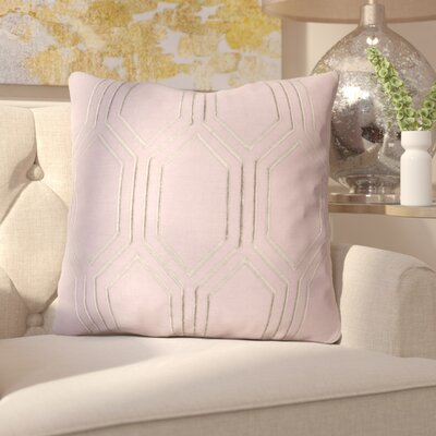Senn Linen Throw Pillow Size: 20 H x 20 W x 4 D, Color: Mauve