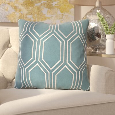 Senn Linen Throw Pillow Size: 20 H x 20 W x 4 D, Color: Teal