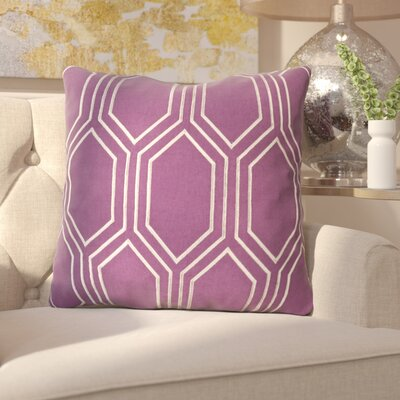 Senn Linen Throw Pillow Size: 20 H x 20 W x 4 D, Color: Eggplant