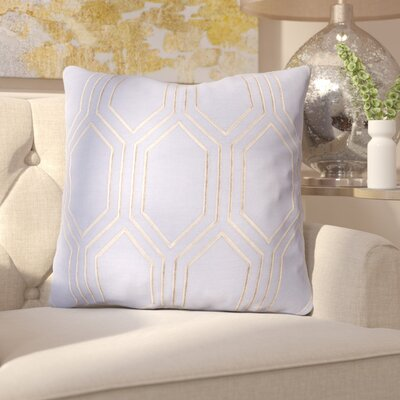 Senn Linen Throw Pillow Size: 18 H x 18 W x 4 D, Color: Sky Blue