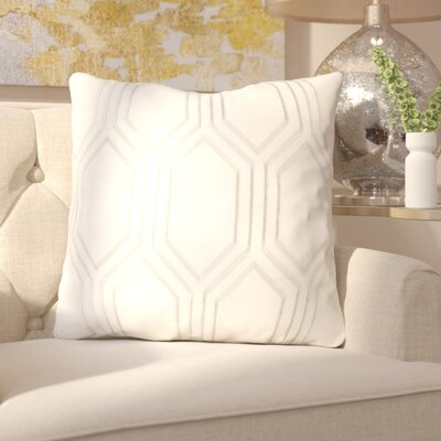 Senn Linen Throw Pillow Size: 20 H x 20 W x 4 D, Color: Ivory