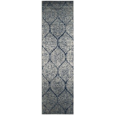 Beachborough Blue/Gray Area Rug Rug Size: Runner 23 x 8