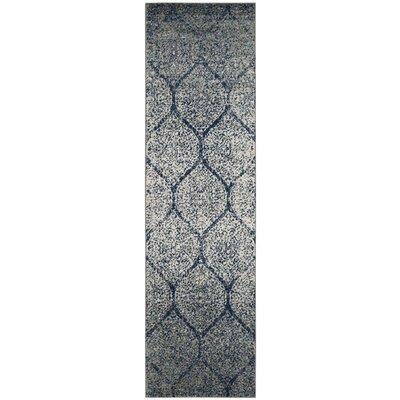 Sandown Blue/Gray Area Rug Rug Size: Runner 23 x 8