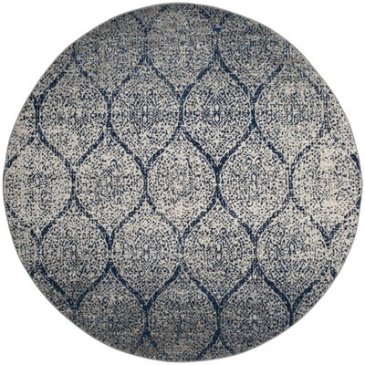 Beachborough Blue/Gray Area Rug Rug Size: Round 7