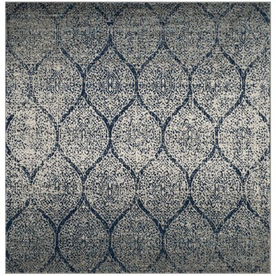 Beachborough Blue/Gray Area Rug Rug Size: Square 7