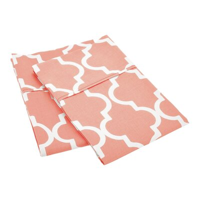 Amalia Pillowcase Color: Coral, Size: Standard