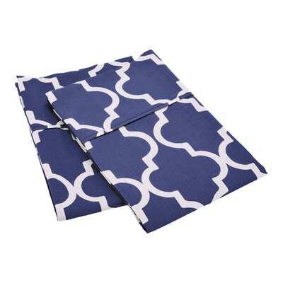 Amalia Pillowcase Color: Navy Blue, Size: Standard