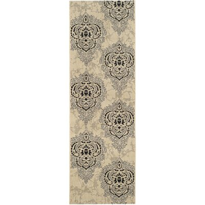 Mayer Fancy Cream Indoor/Outdoor Area Rug Rug Size: Runner 24 x 67