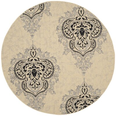 Mayer Fancy Cream Indoor/Outdoor Area Rug Rug Size: Round 67