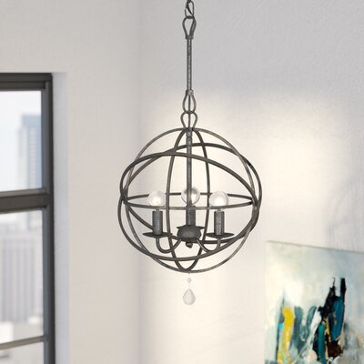Gregoire 3-Light Mini Chandelier Finish: English Bronze