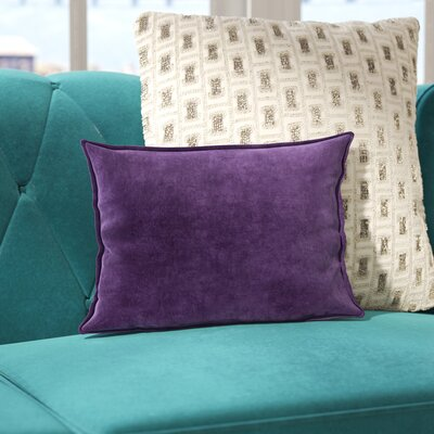 Jaycee Cotton Lumbar Pillow Color: Purple