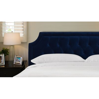 Misael Upholstered Panel Headboard Size: Queen, Upholstery: Navy Blue